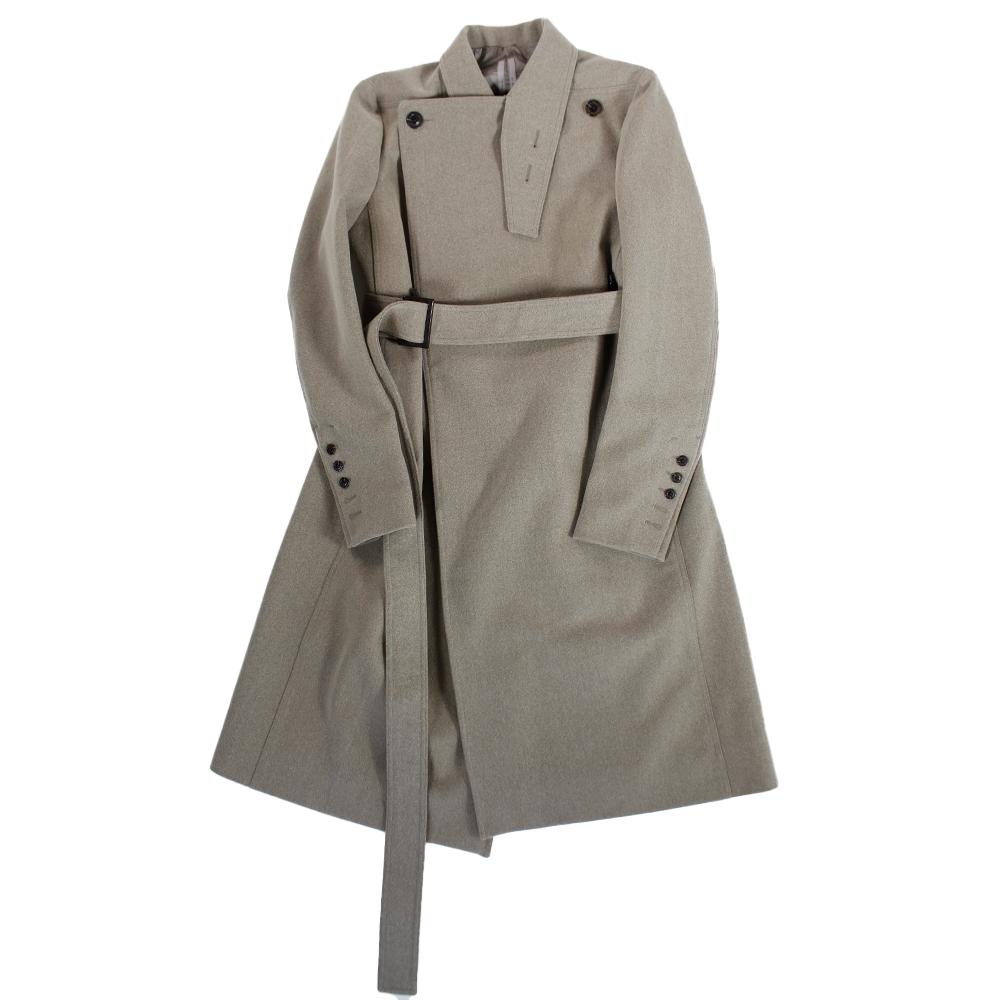 RICK OWENS Wool Long Coat