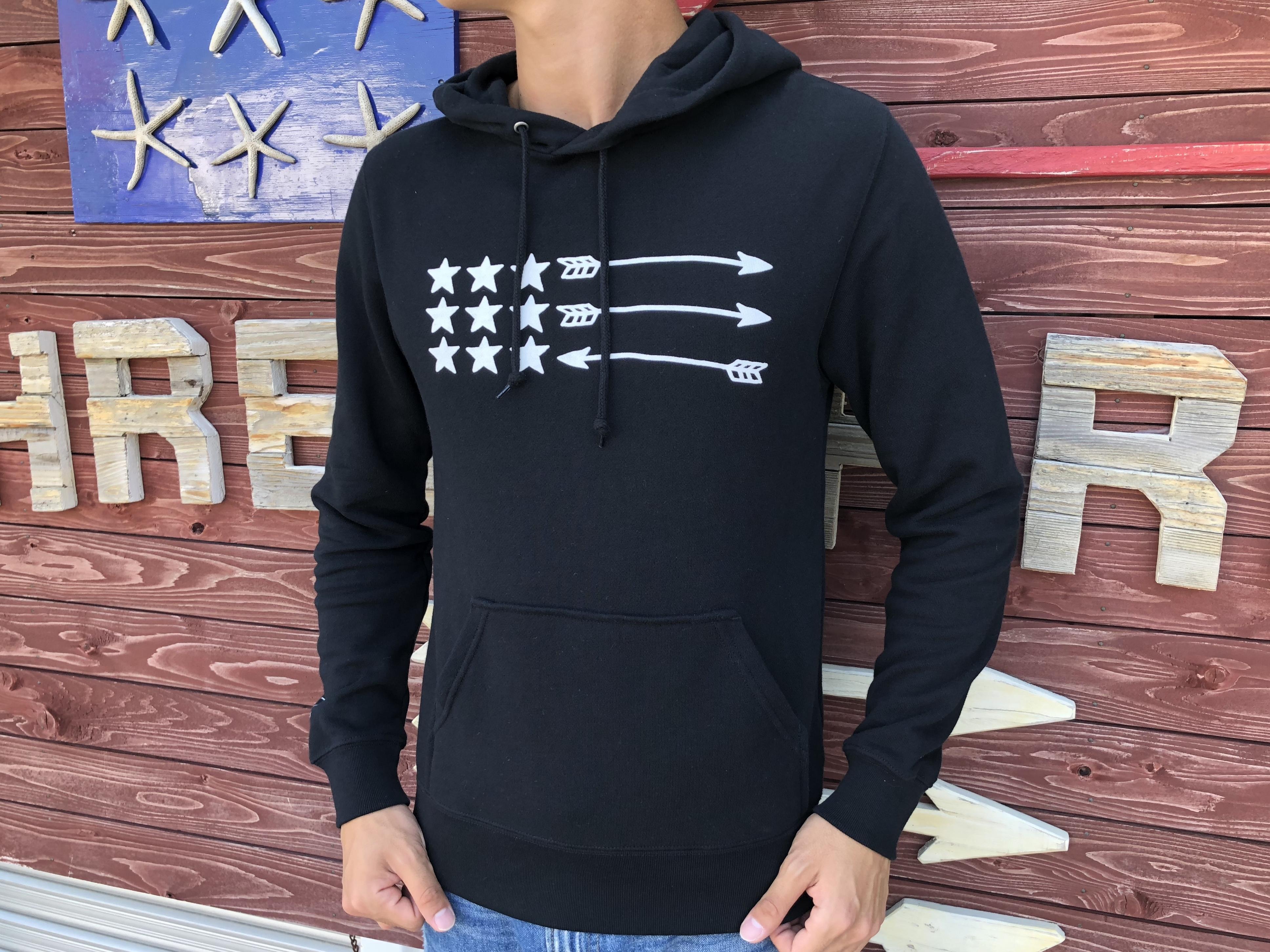 USA ArrowFlag パーカー(black)