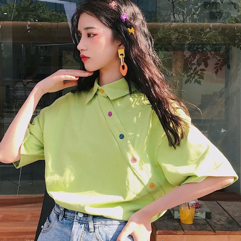 【tops】POLOネック配色合わせやすいシャツ26681848