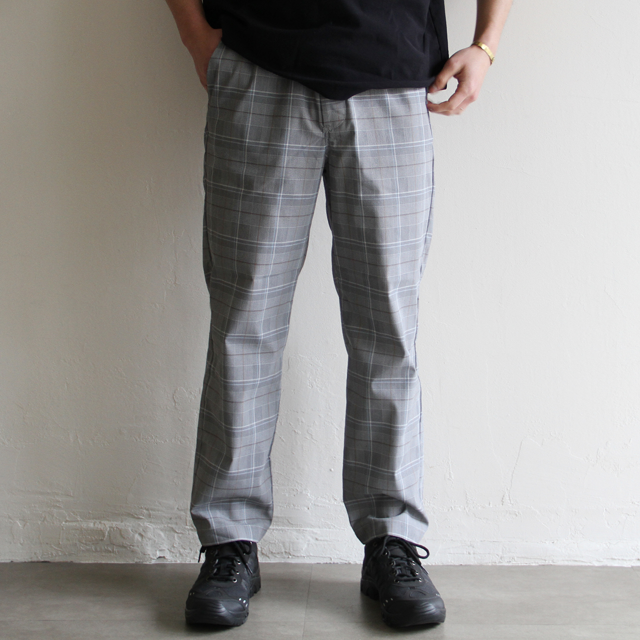 STILL BY HAND【 mens 】check easy pants