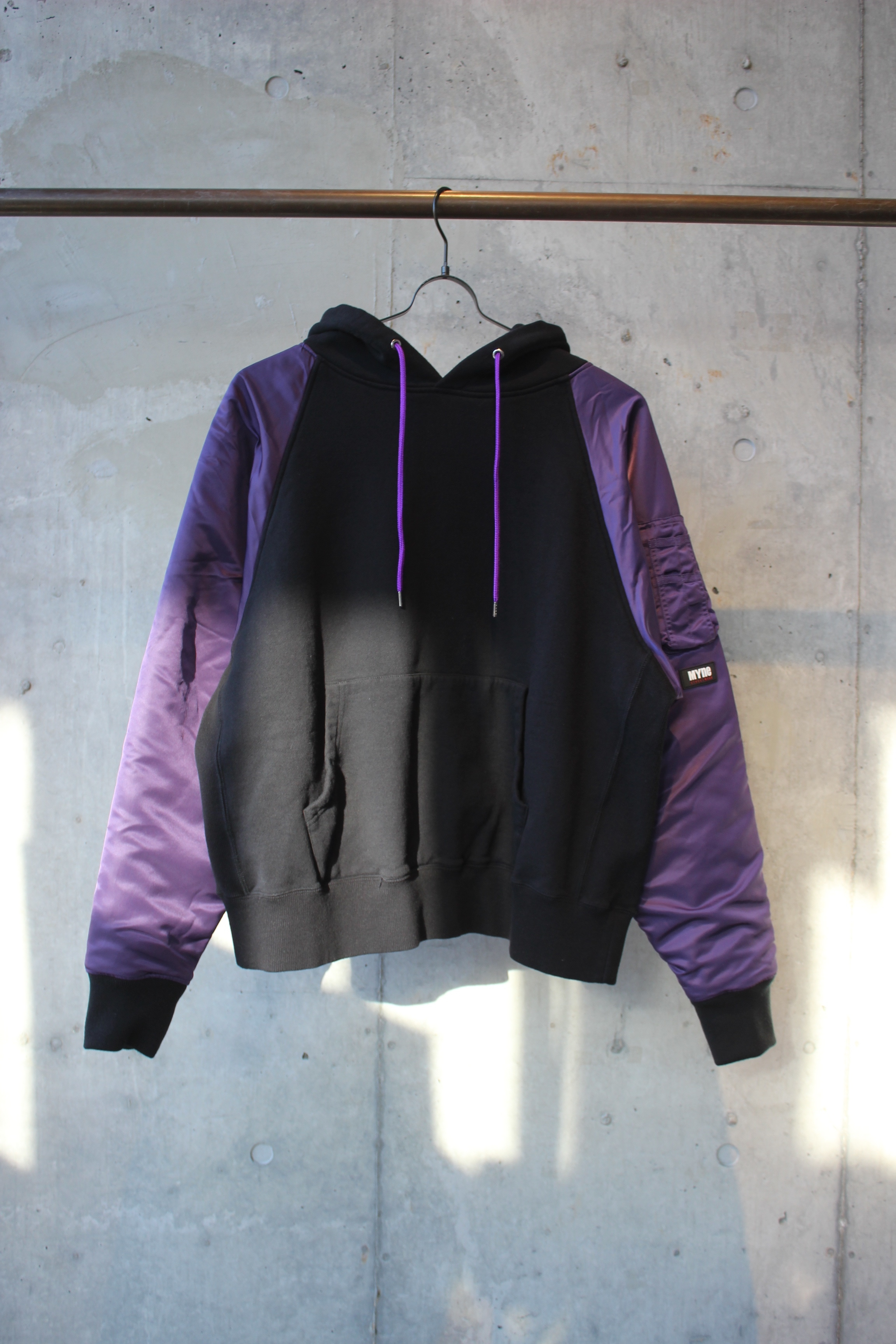 MA-1 hoodie / BLACK - 画像1