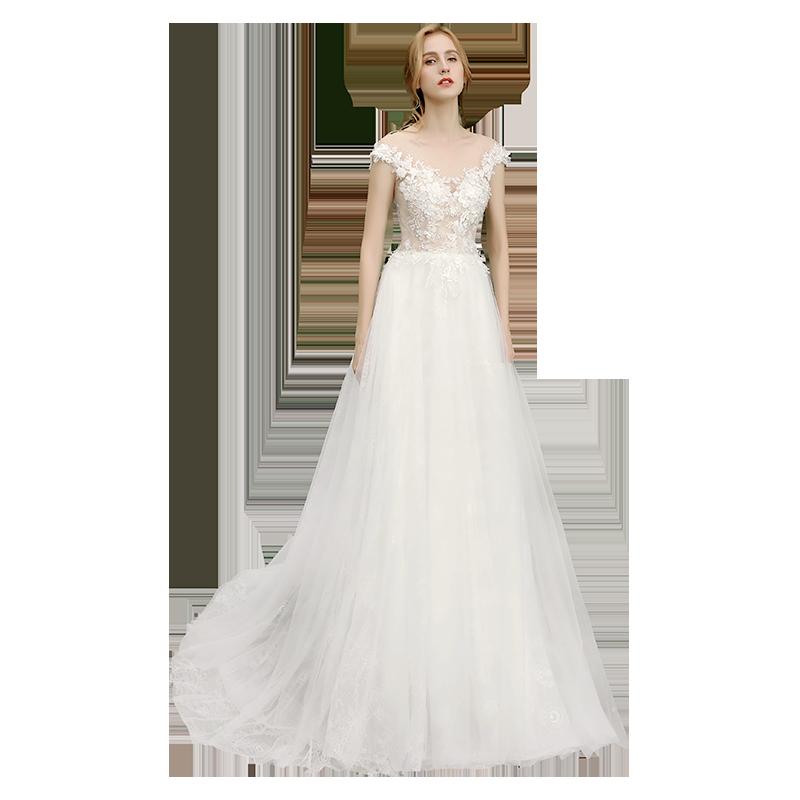 【DearWhite】ウェディングドレス Aライン プリンセス エンパイア デコルテ 結婚式 披露宴 二次会 パーティーウェディングドレス・カラードレス・サイズオーダー格安オーダーメイド DW00042