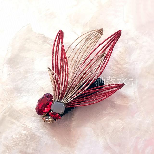 【受注販売品】水引の髪飾り 青い鳥/赤い鳥