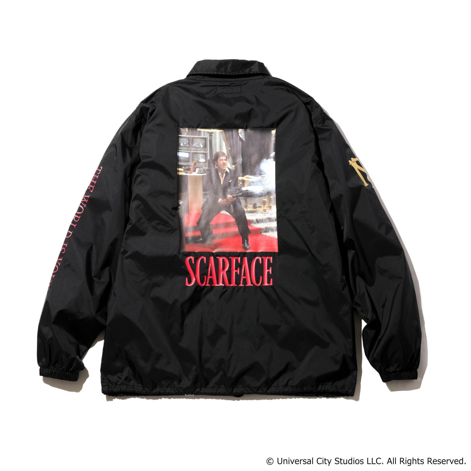 MAGIC STICK × SCARFACE Lil Friends Coach Jacket BLACK