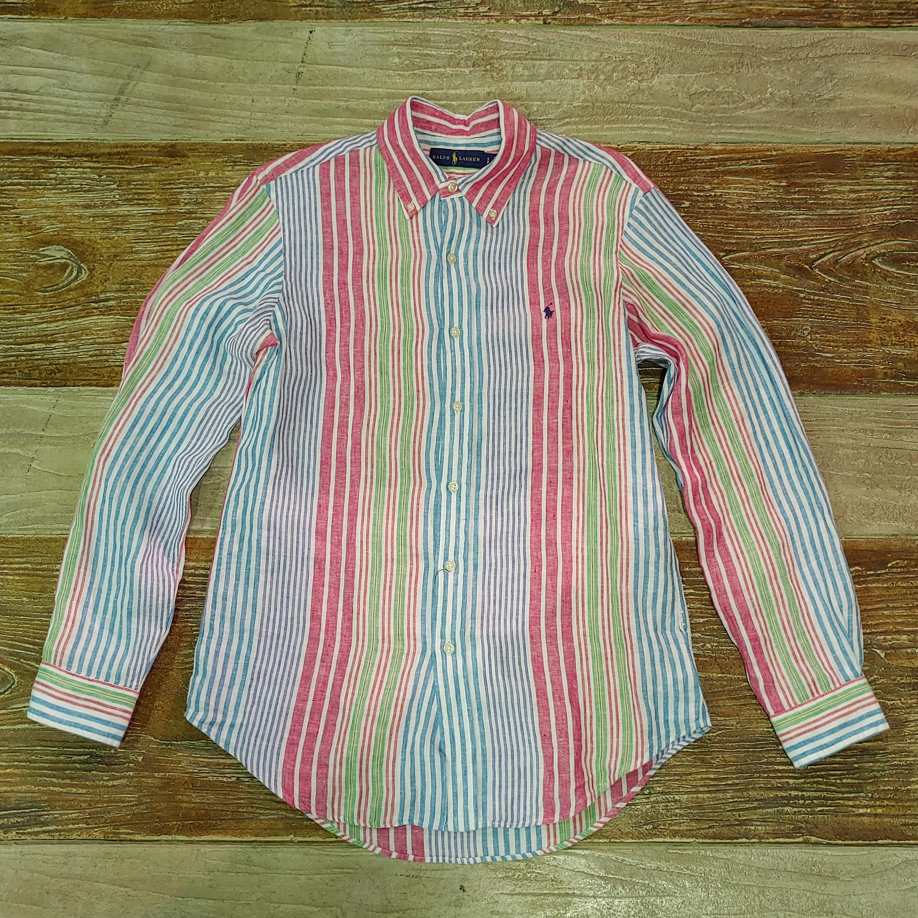Ralph Lauren Stripe Linen L/S Shirts