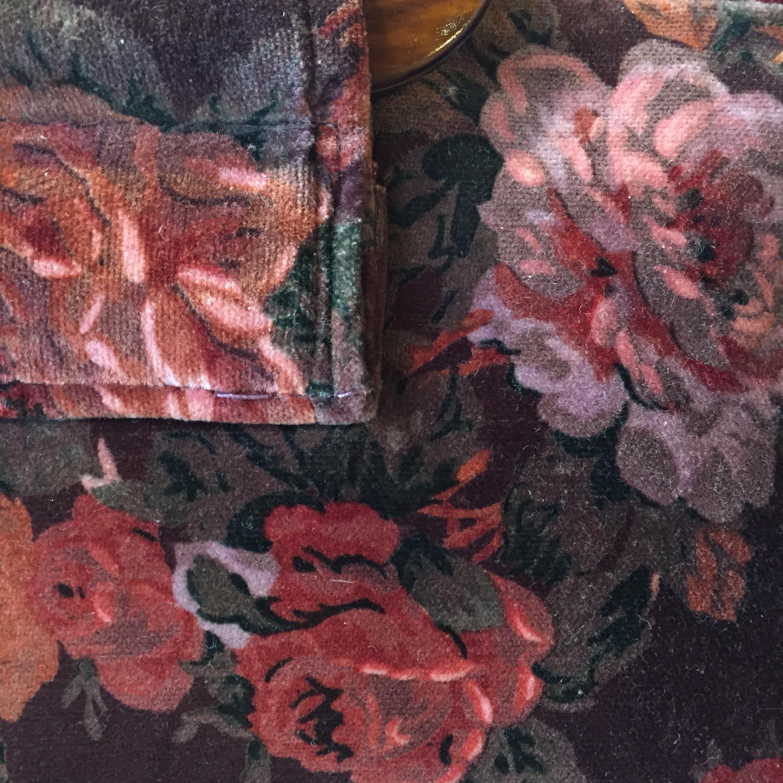 vintage flower hand bag