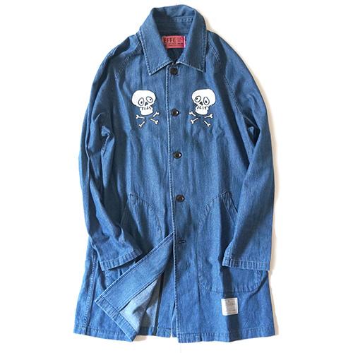 EFFECTEN/エフェクテン 'Skull'Shop coat(indigo)