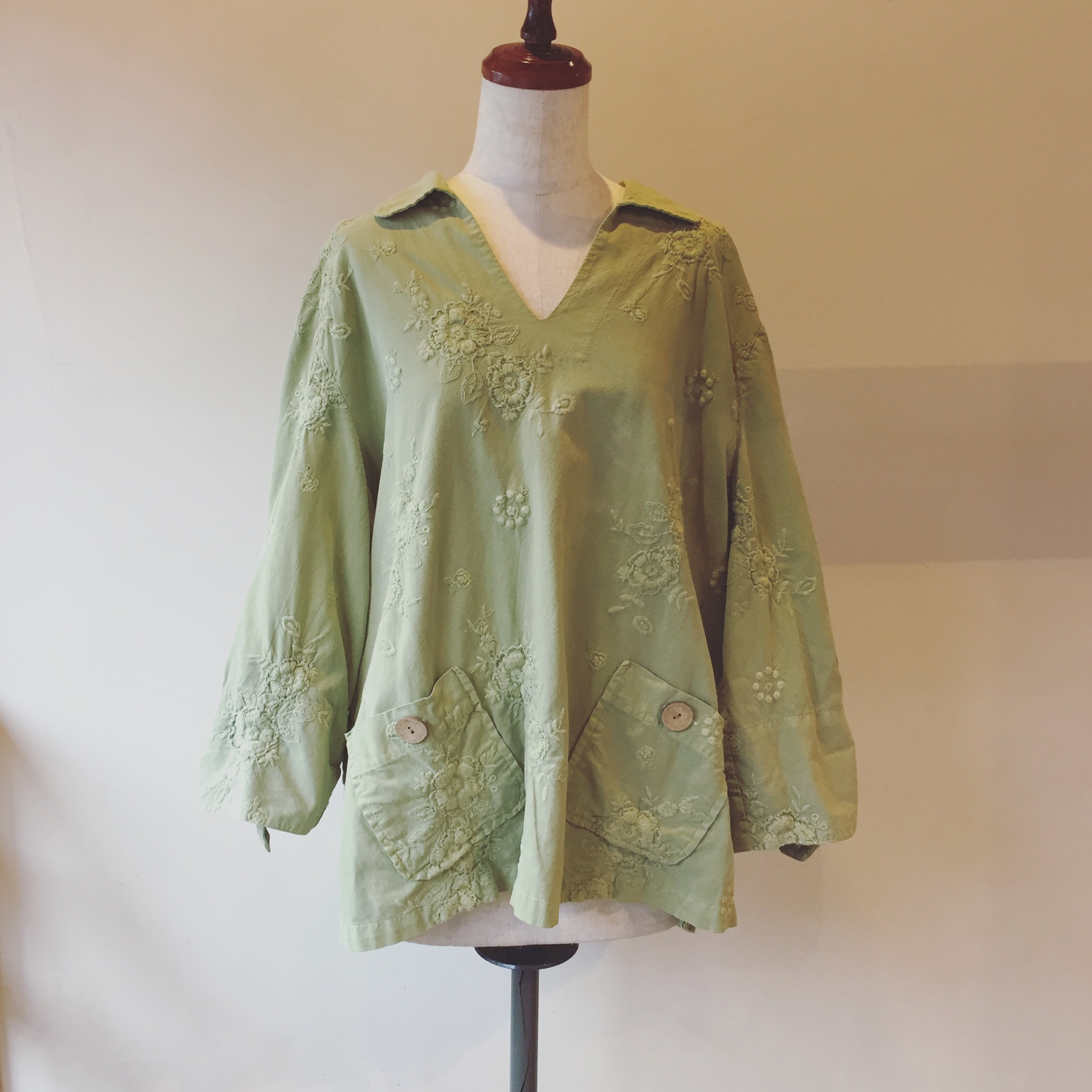 vintage embroidery cotton tops