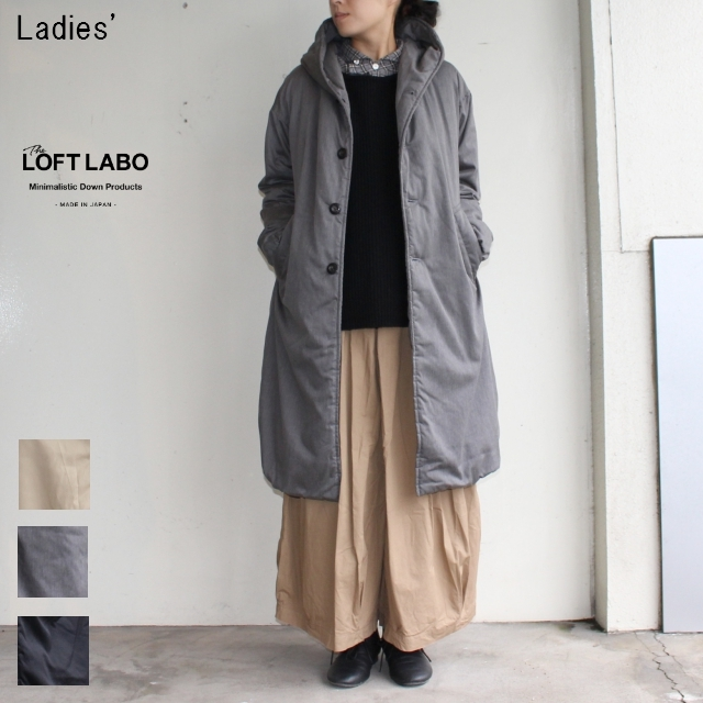 THE LOFTLABO フードロングダウンコート WIIS TL15FJK4 (TOP GRAY)