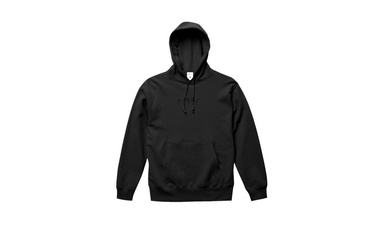 coguchi 1991 logo hoodie (bk/bk)