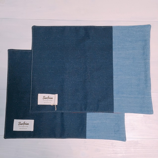 Denim lunch mat (2set) E4