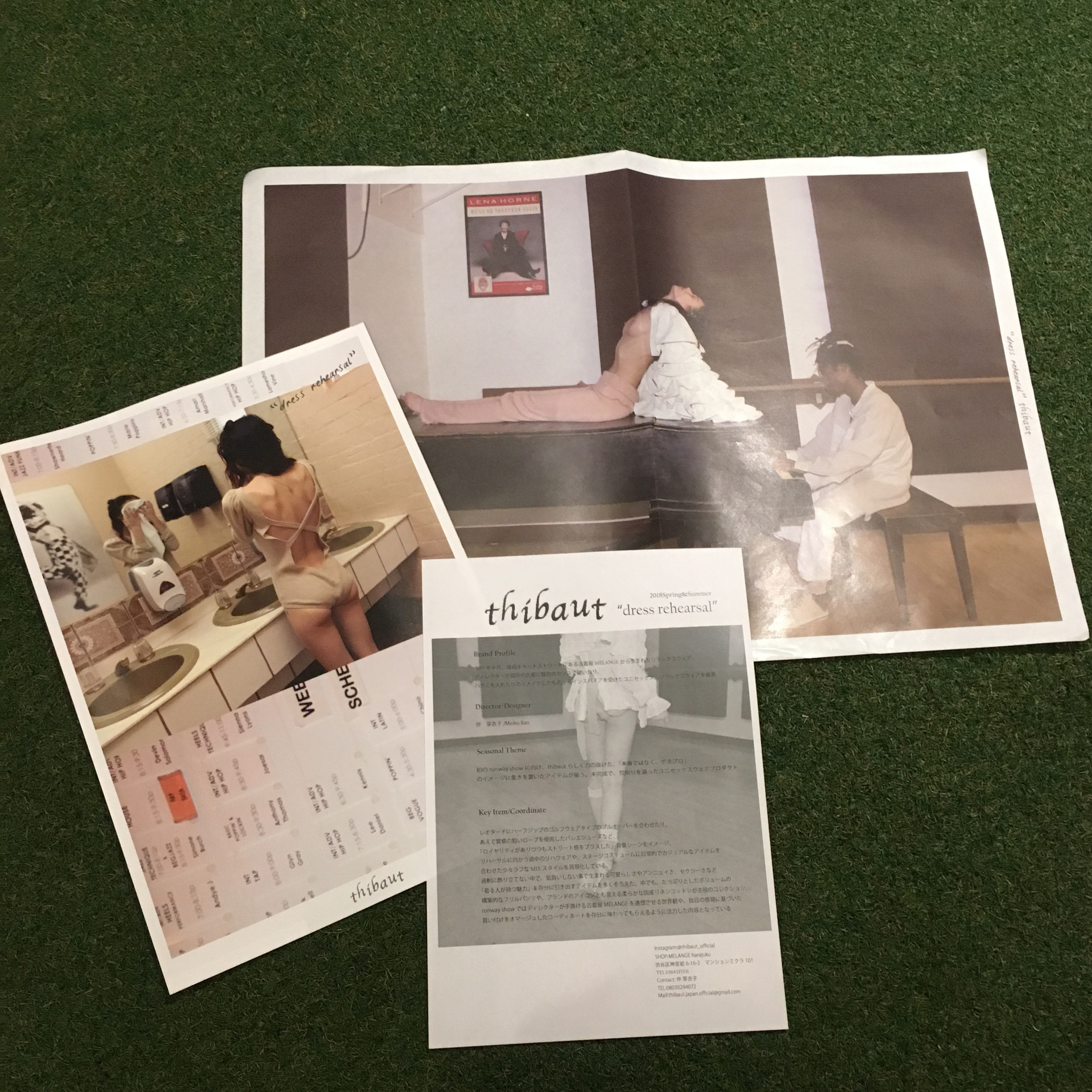 "thibaut 18ss ""dress rehearsal"" brochure"