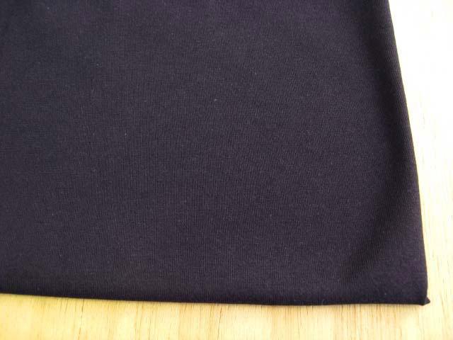 J&B定番 綿コーマ糸40双糸天竺ニット ブラック #19 NTM-2449