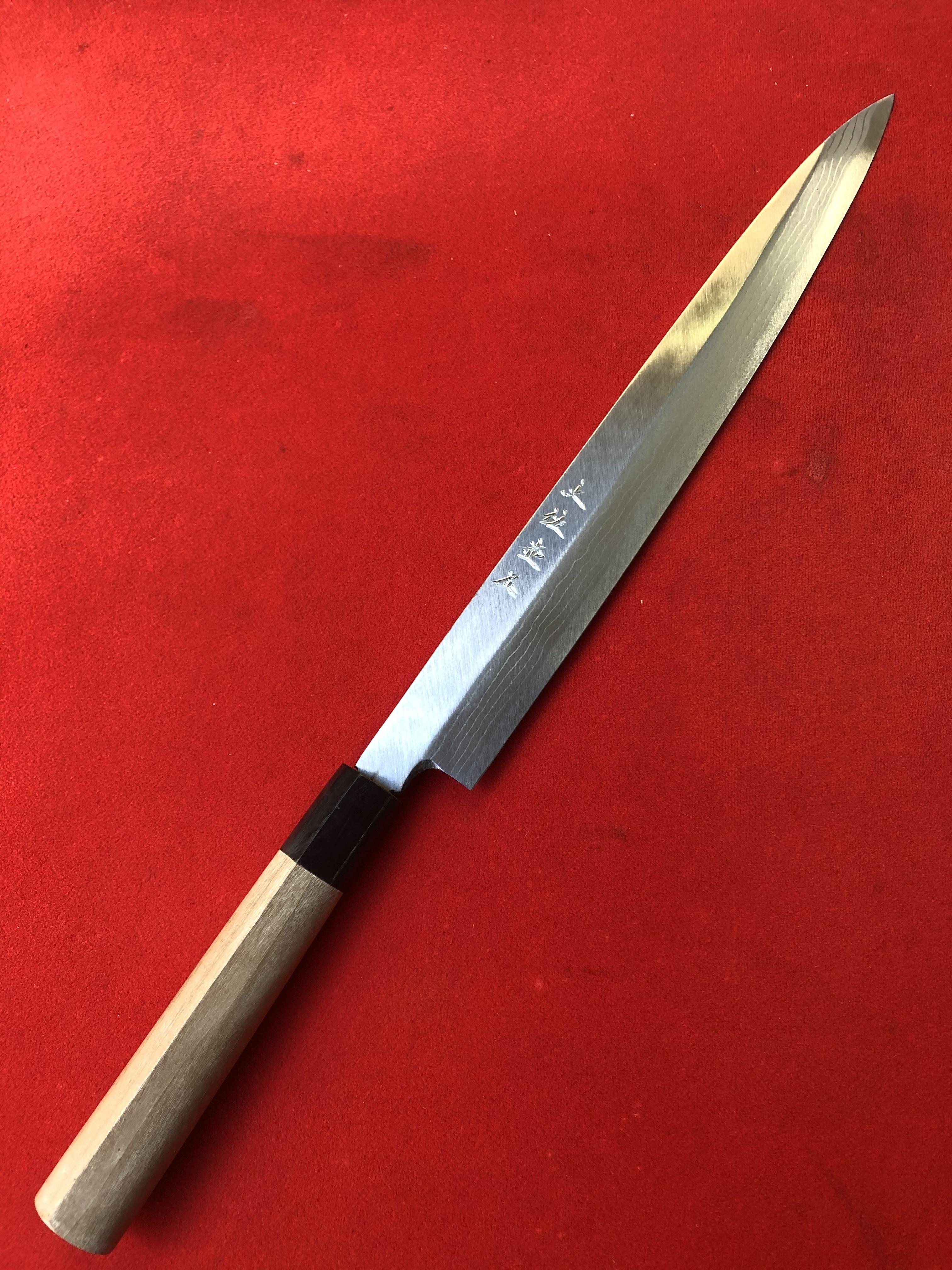 柳刃包丁 多層鋼 8寸 (安来青鋼 片刃)