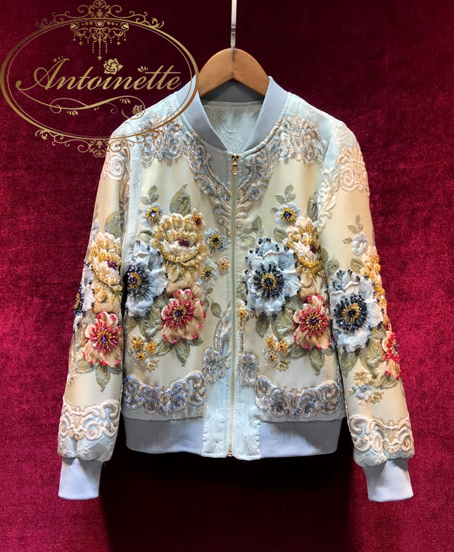 Outwear Jackets Women's Vintage Gold Line Jacquard Beading luxury Tops Coat Jackets
