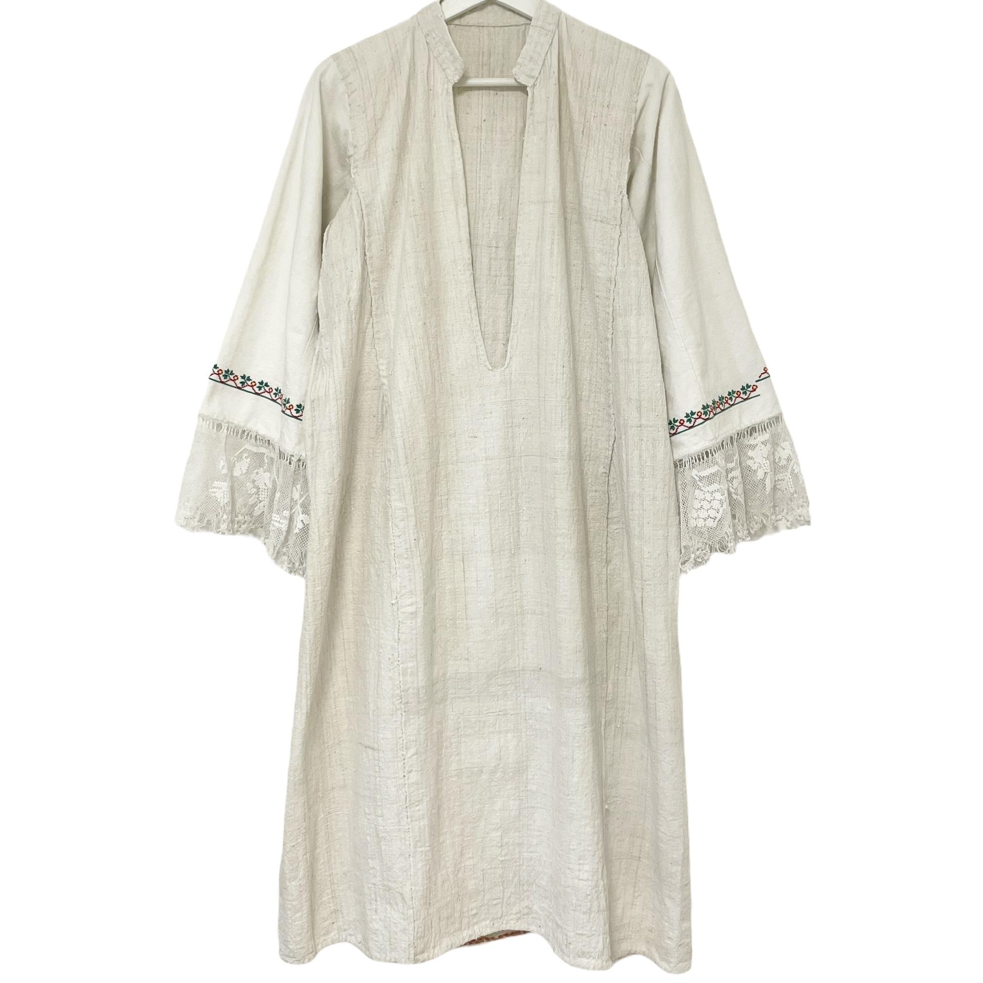 Bulgalian Embroidered Linen Dress