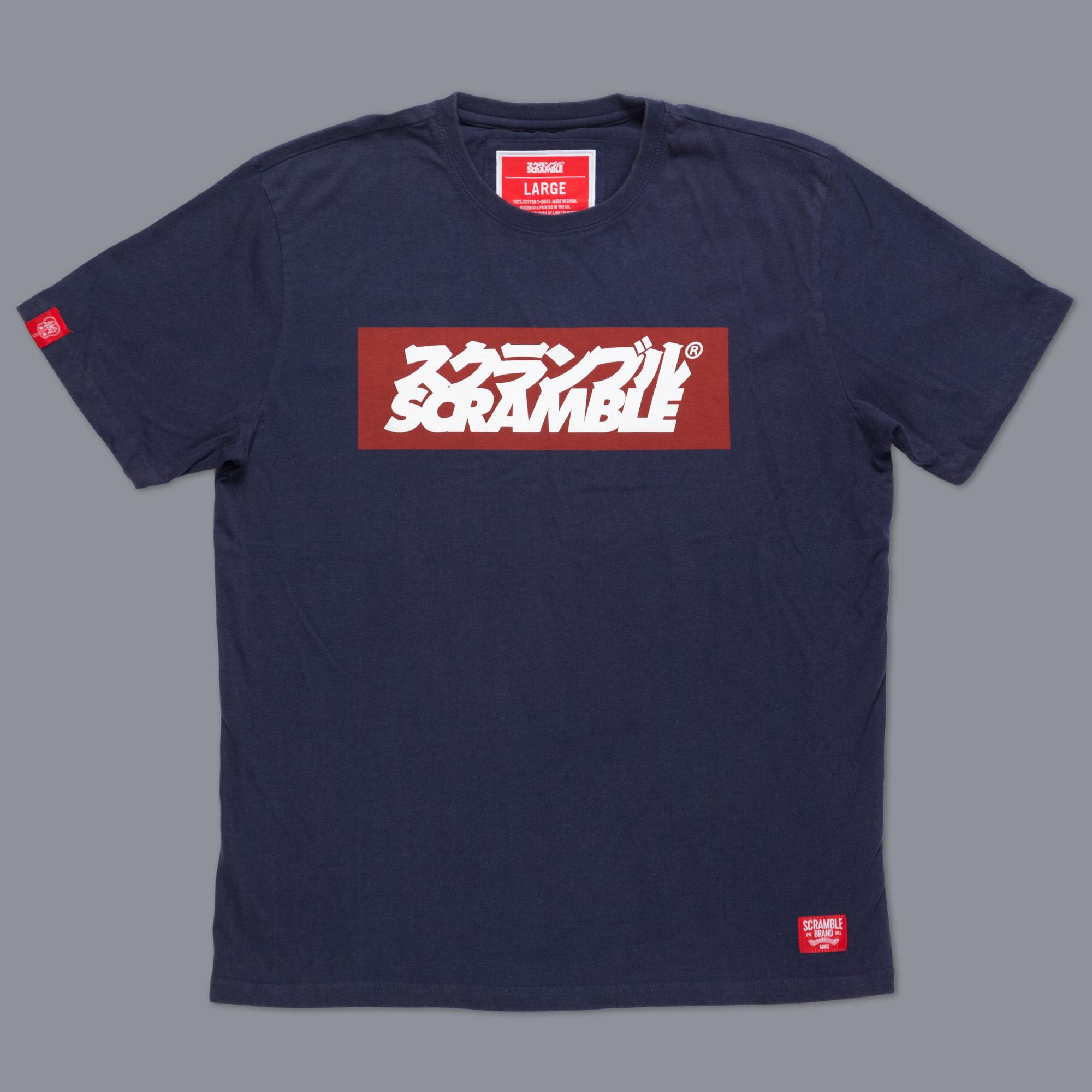 SCRAMBLE ブランドロゴ Tシャツ – ネイビー