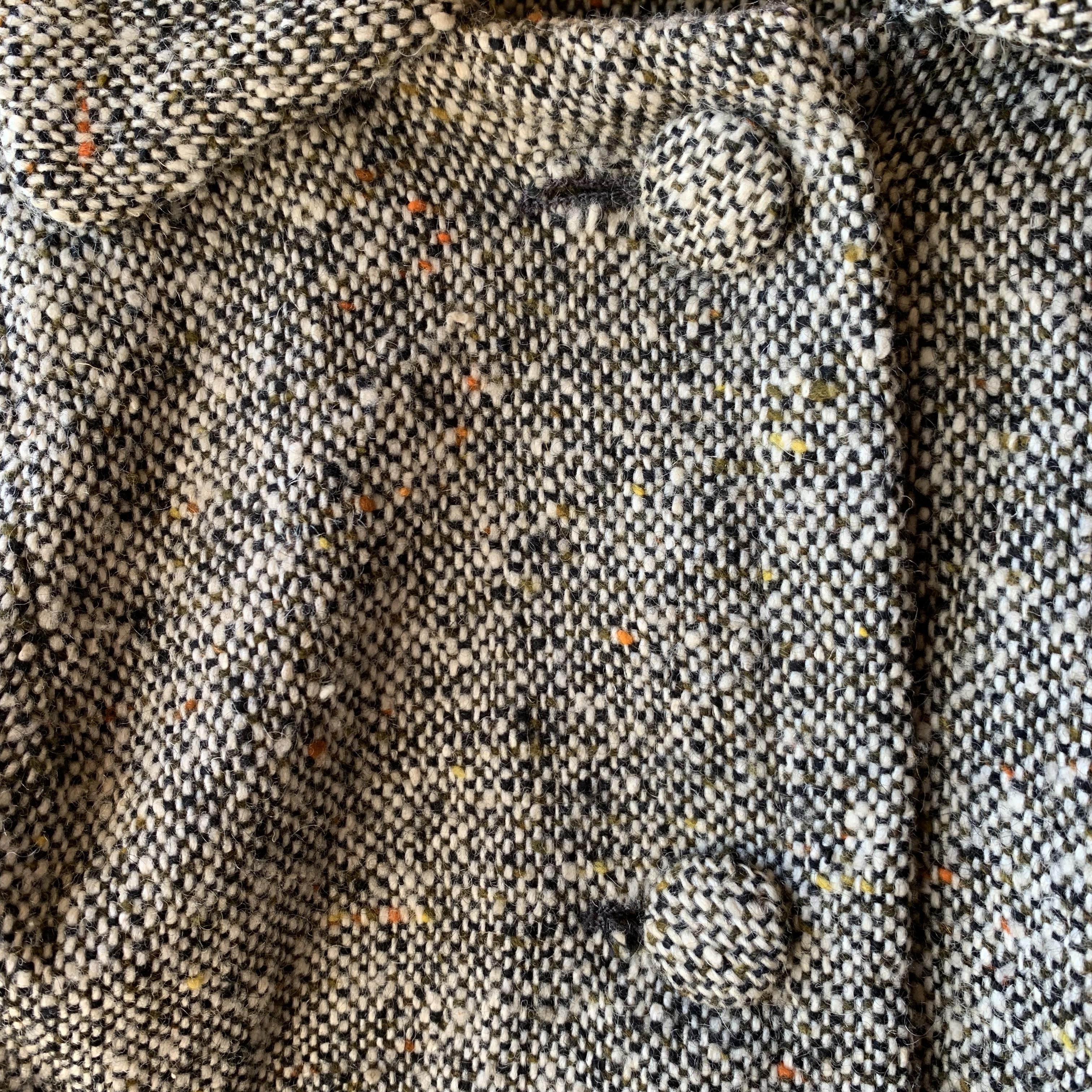 vintage tweed poncho