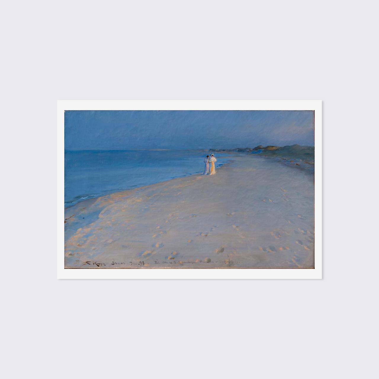 クロイア ポストカード 「スケーイン南海岸の夏の夕べーアナ・アンガとマリーイ・クロイア」