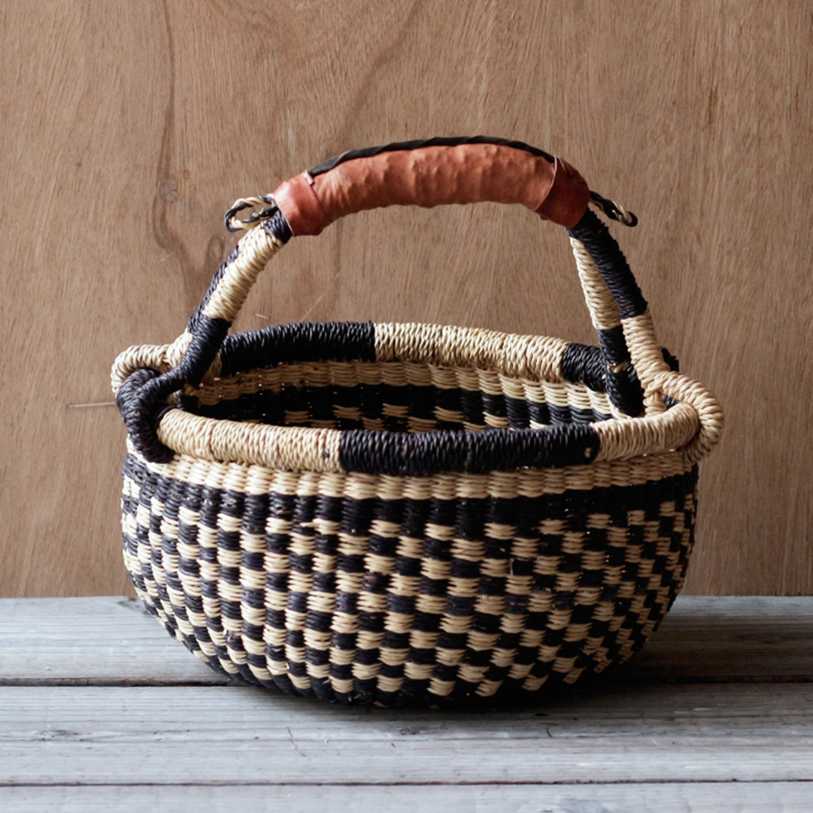 ガーナの手編み ボルガバスケット / 小 J