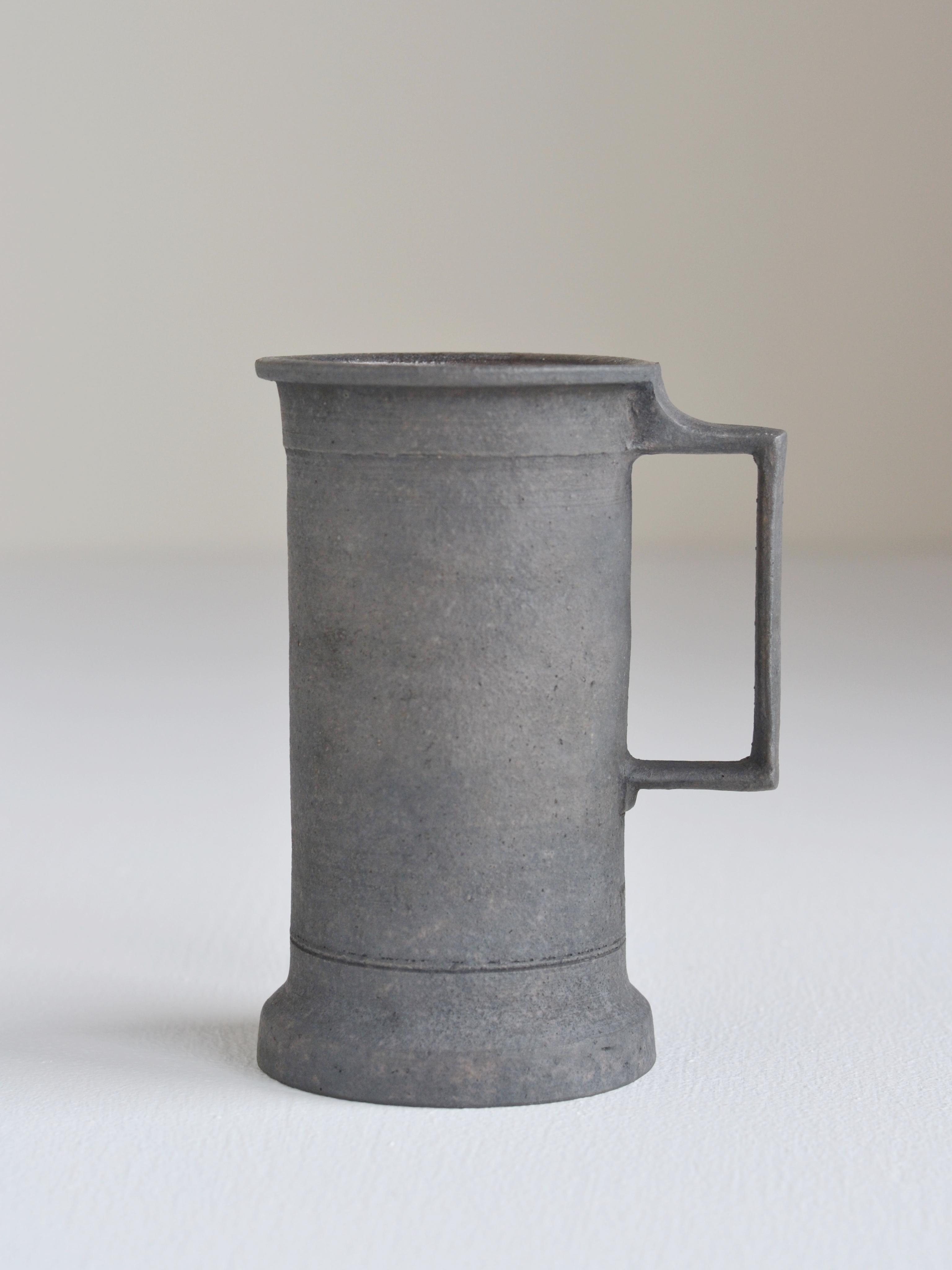 伊藤環 錆銀彩マグ kan ito-sabi-ginsai mug