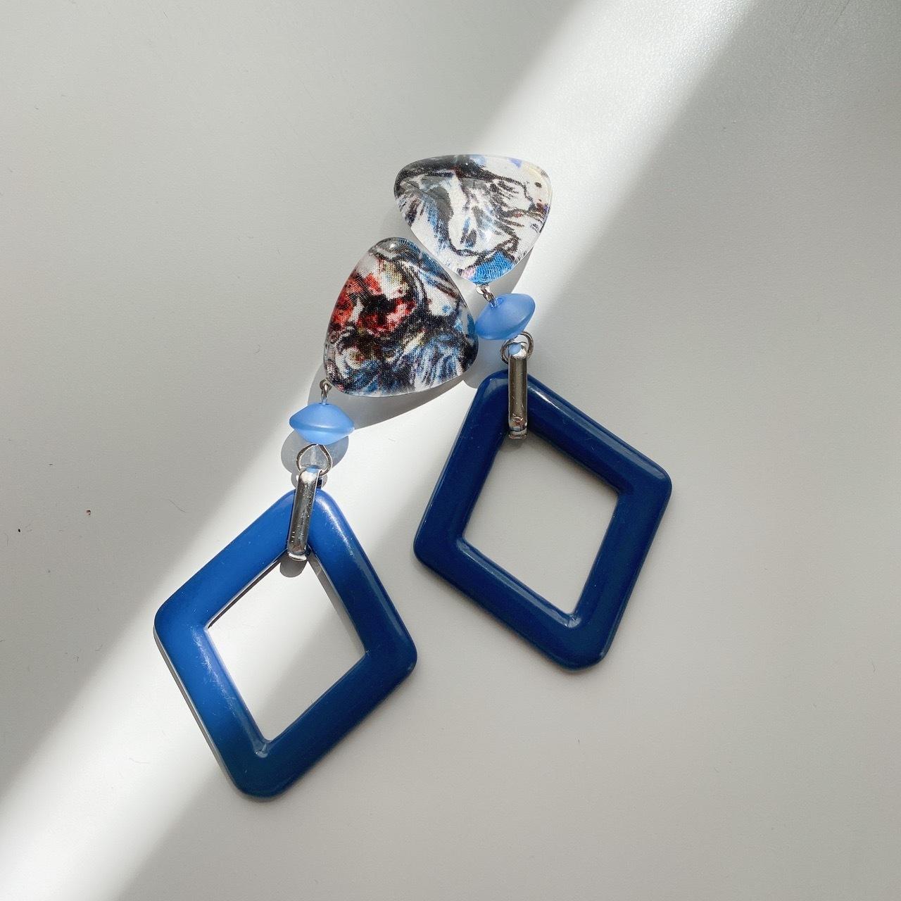 """ Earrings NO.danoan-145″ リバティとビッグダイヤパーツ"