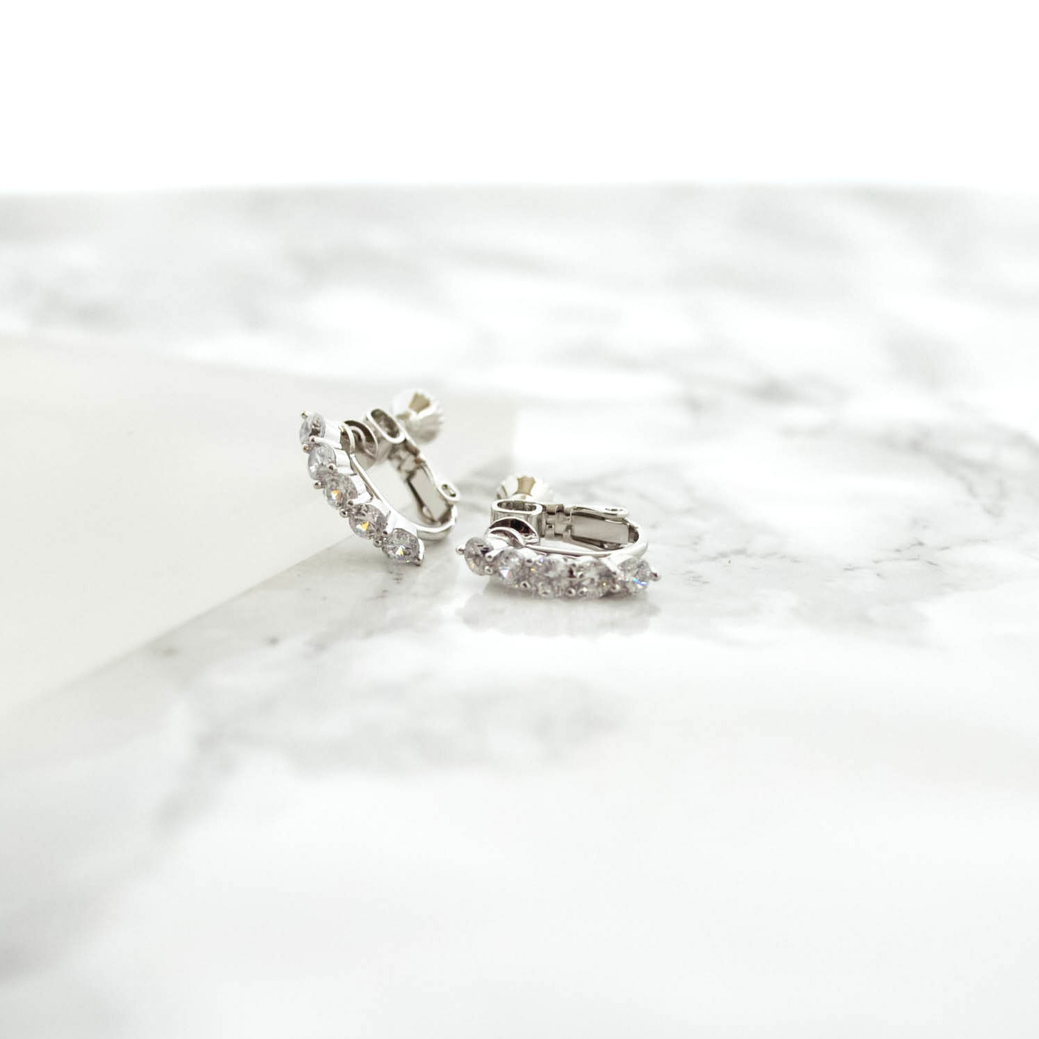 Curve Zirconia Earrings