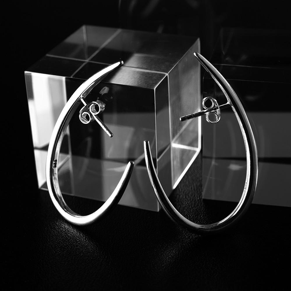 half hoop pierce silver 925