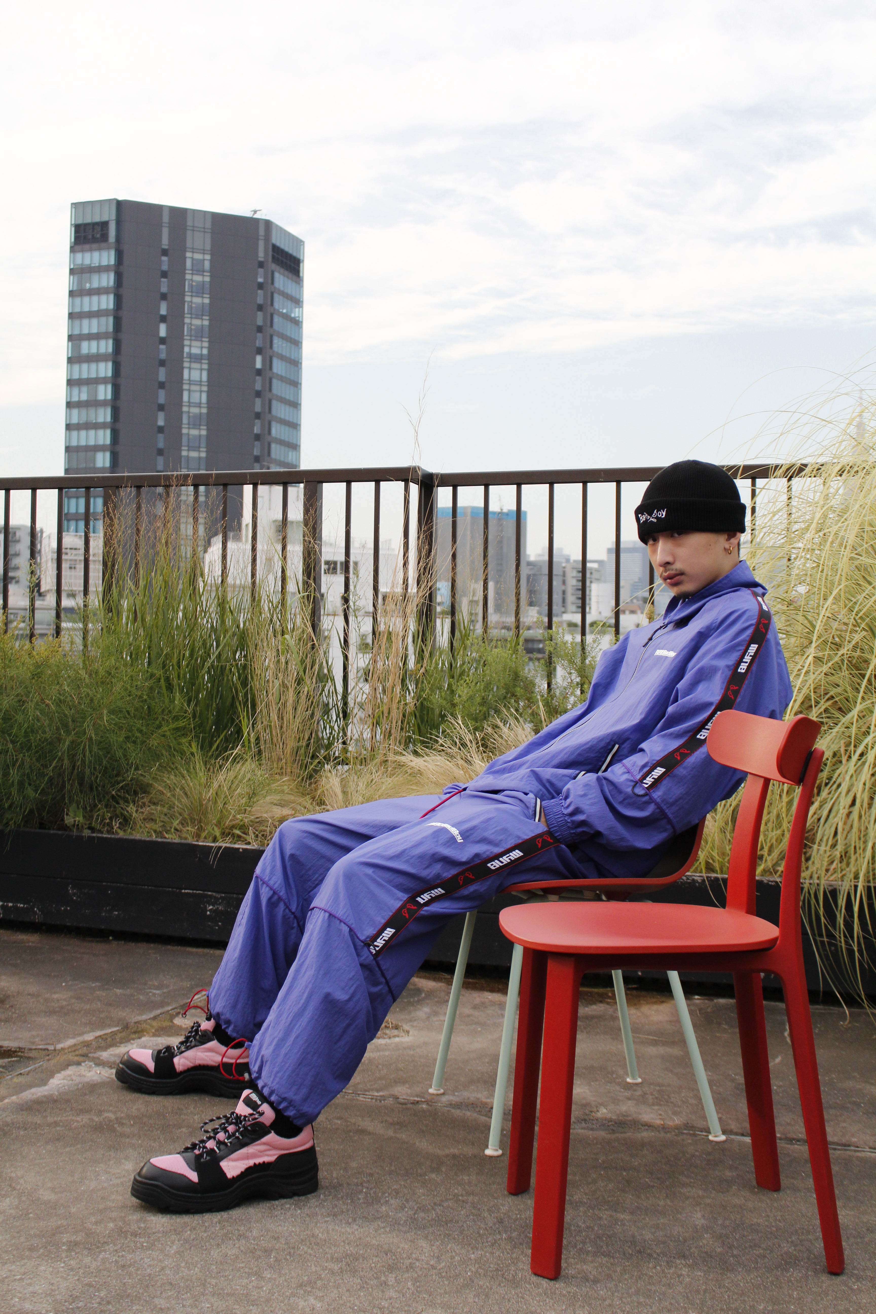 MYne × BADBOY Track pants / BLUE - 画像3