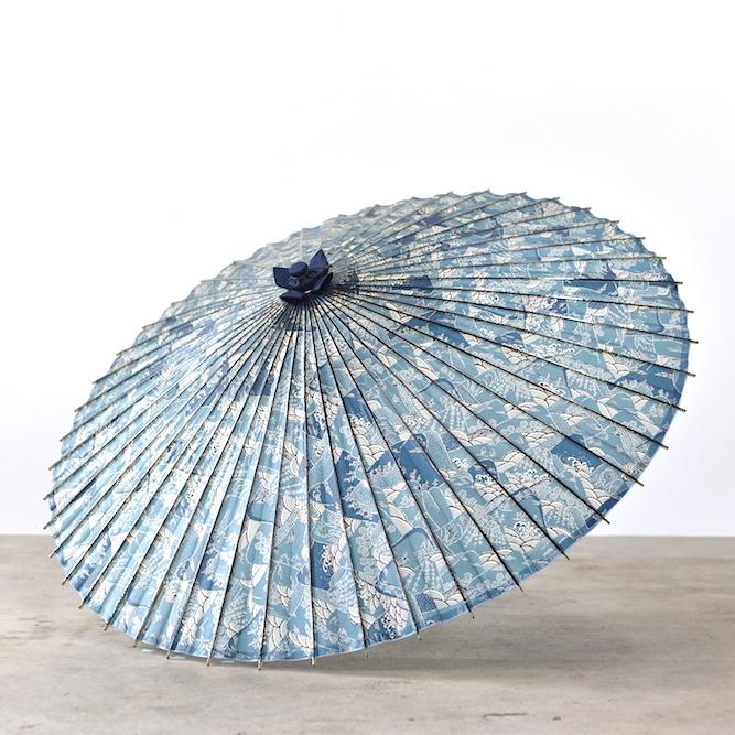 傘日和 蛇の目傘 山山×青