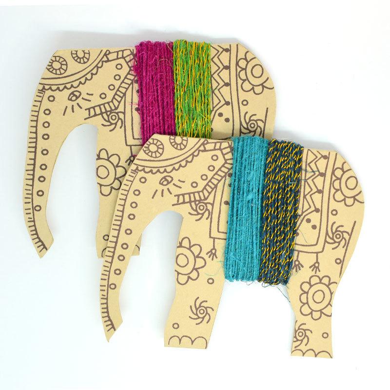 People Tree(ピープルツリー)ゾウの麻ひも2色セット