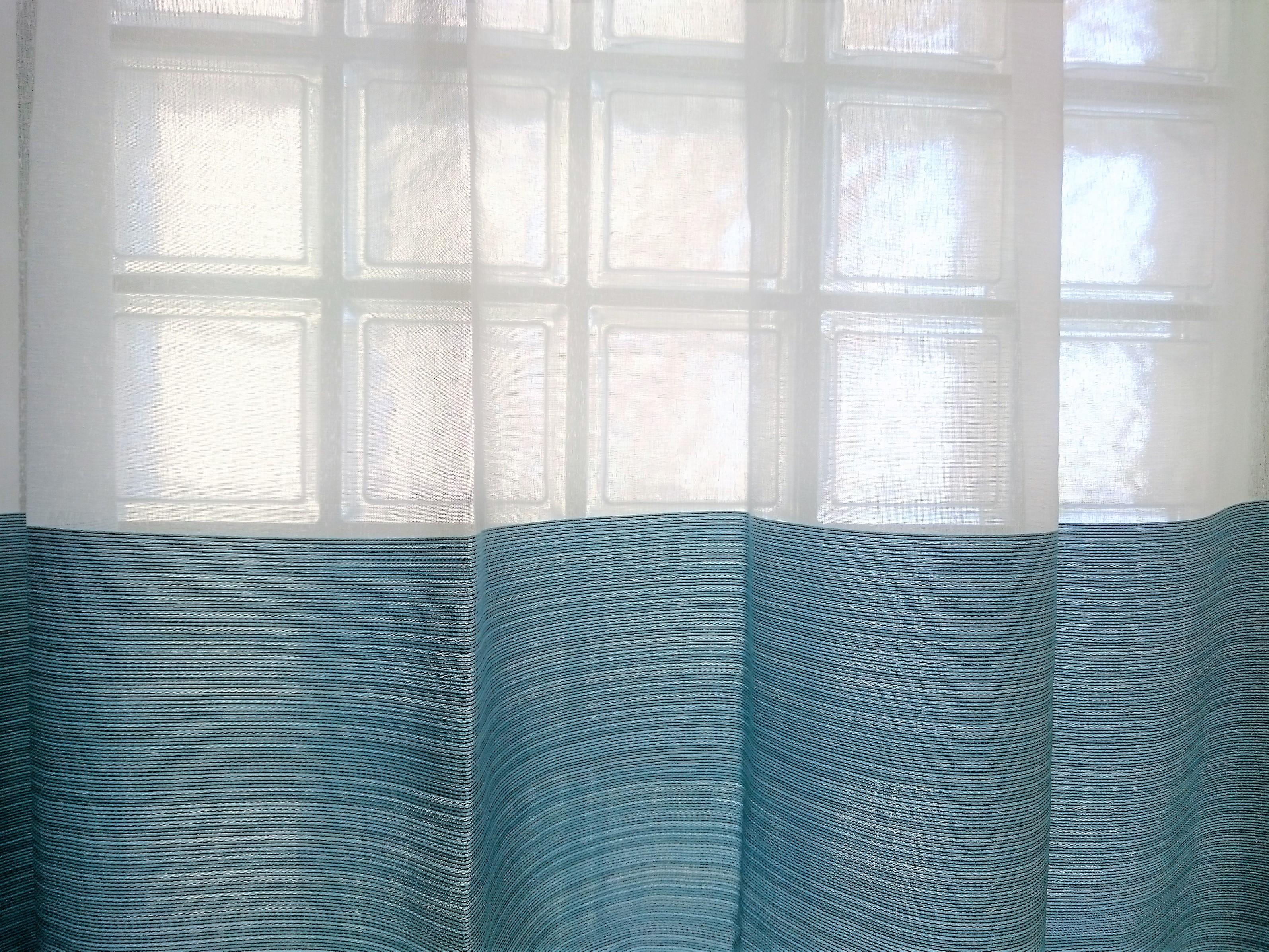 カーテン/ 北欧カラー(ブルー or グレイ)2枚組セット