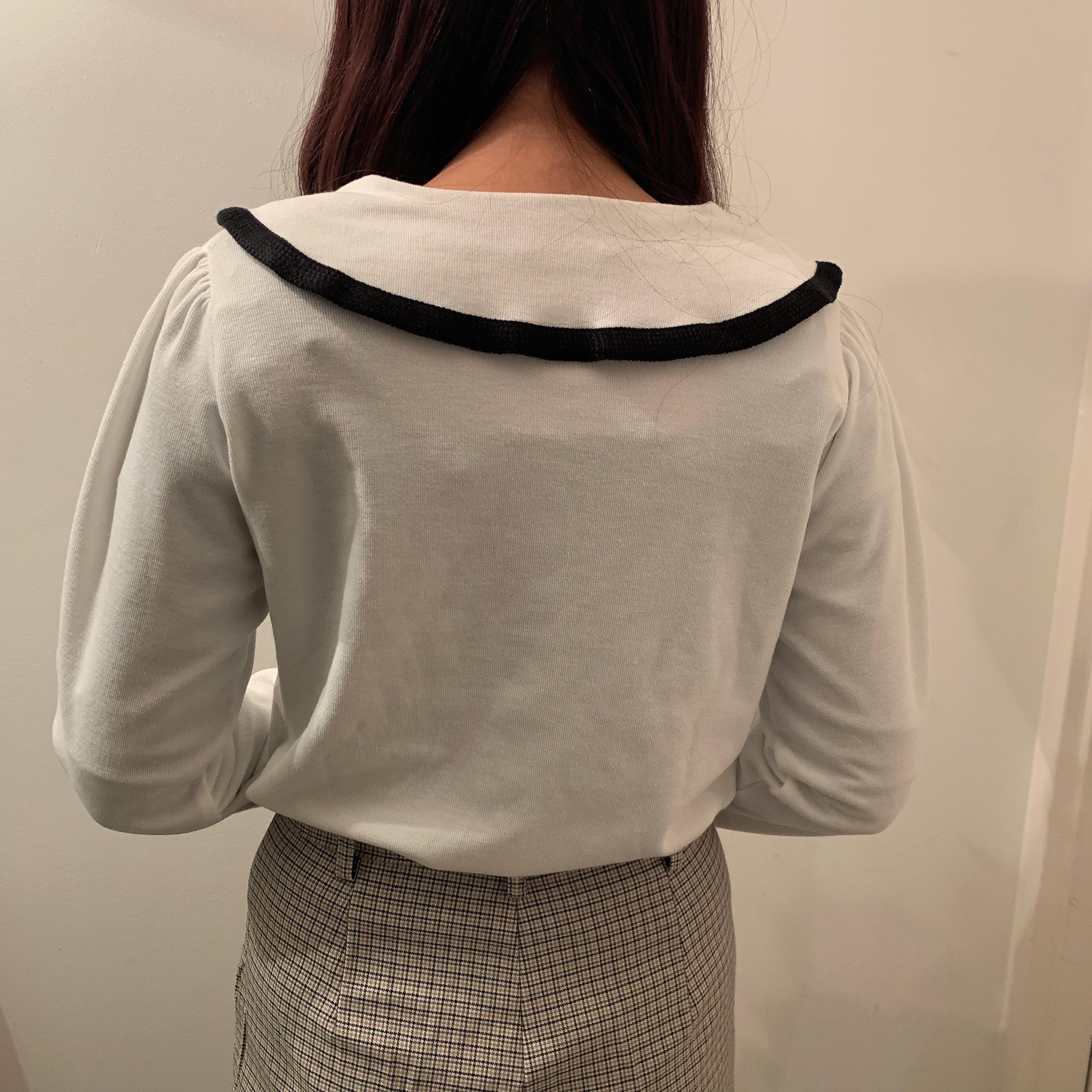 round collar cardigan