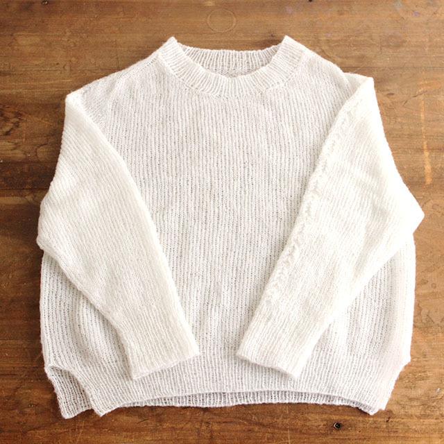 【編み物キット】No.11の糸を使ったトップダウンセータ―