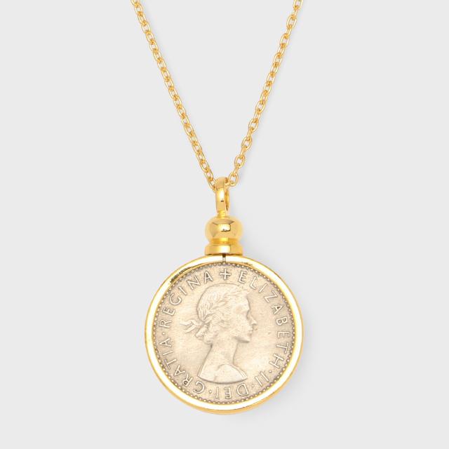 PORTADA SIXPENCE COIN NECKLACE YG(金メッキ) (ポルターダ シックスペンスコイン ネックレス イエローゴールドカラー)