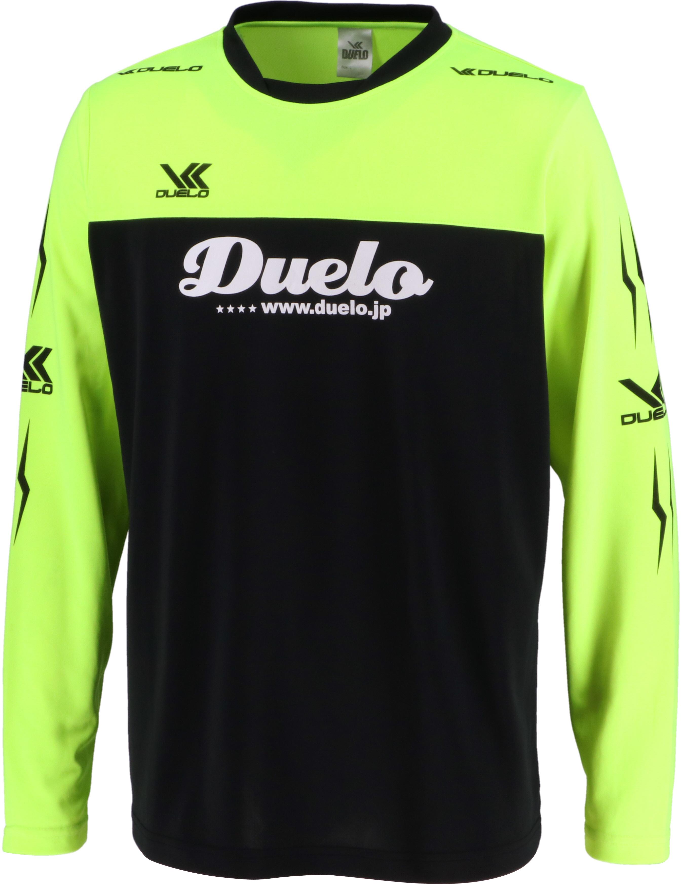 19020 Duelo Logo Long Practice Shirt BLK/蛍光YEL