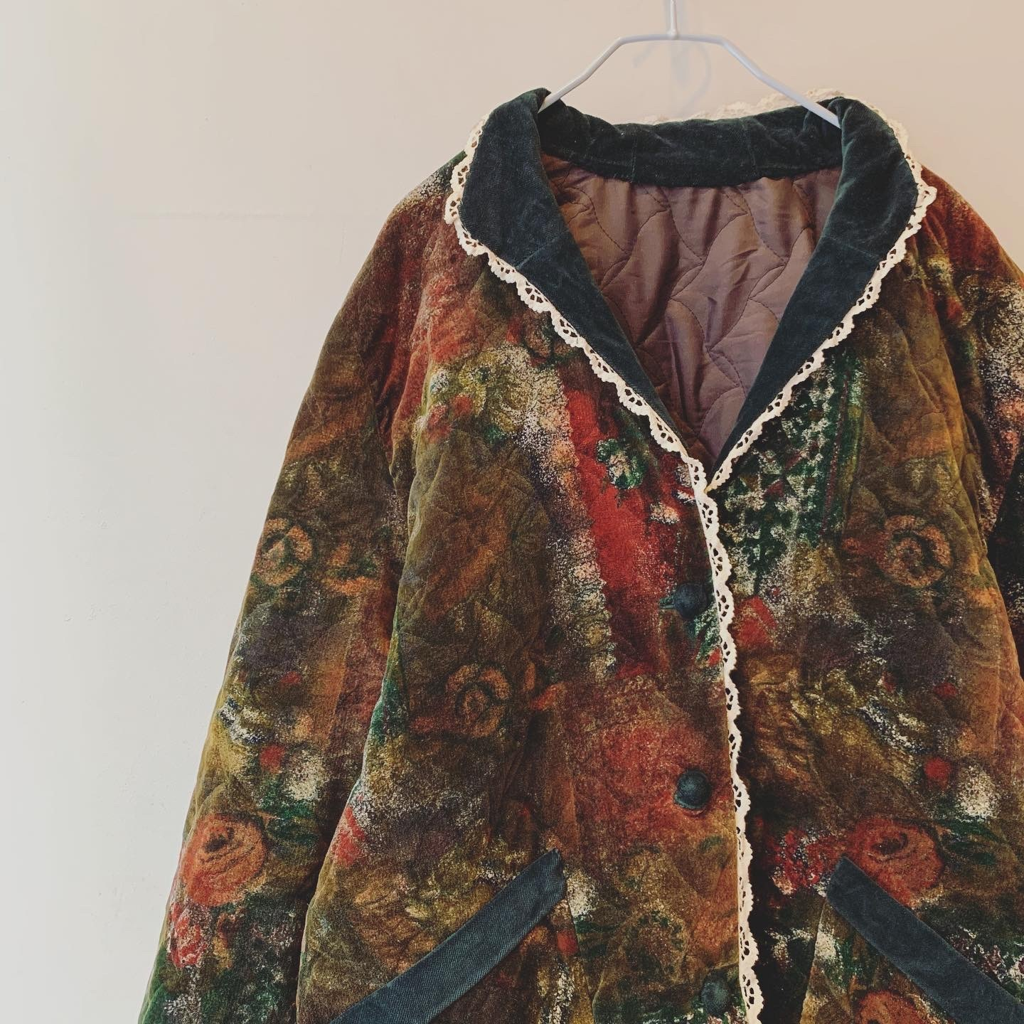 vintage velour quilted outer