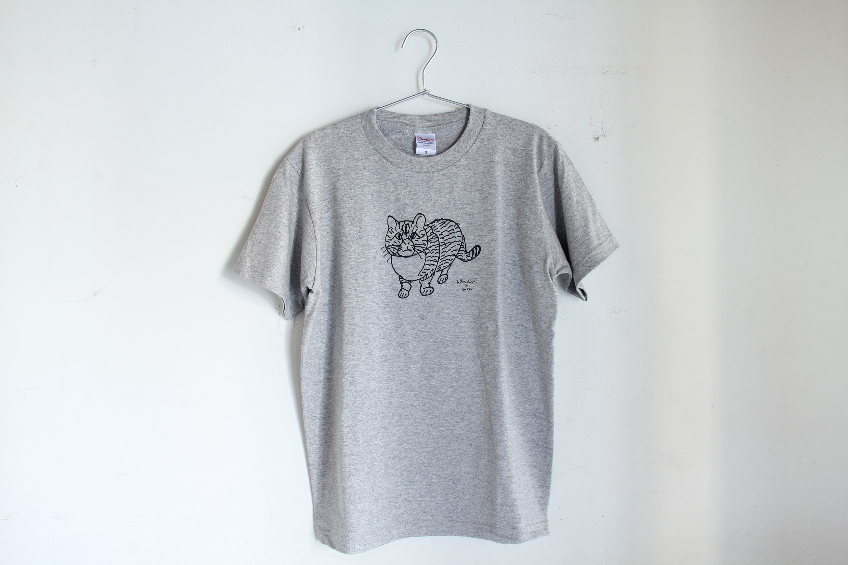 Tシャツ(西野 達 in 別府)ネコ