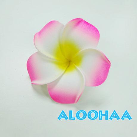 プルメリア PINK 5pc パック Lsize 9cm 造花 ウレタン フラダンス タヒチアン 衣装 アクセサリー 材料