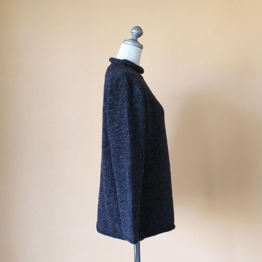 james charlotte ジェームズシャーロット roll neck pullover ロールネックプルオーバー・ネイビー杢