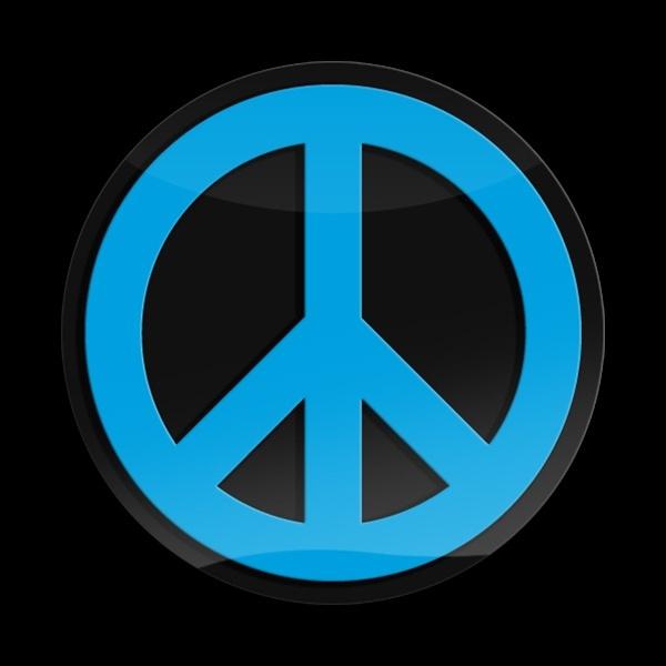 ゴーバッジ(3D)(LC0044 - 3D PEACE BLUE) - 画像1
