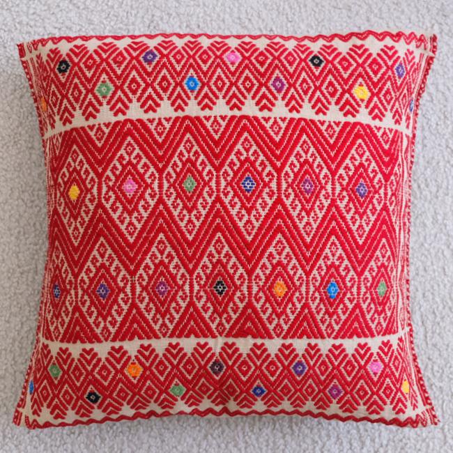 ララインサールの手織りクッションカバー /215c/ MEXICO メキシコ