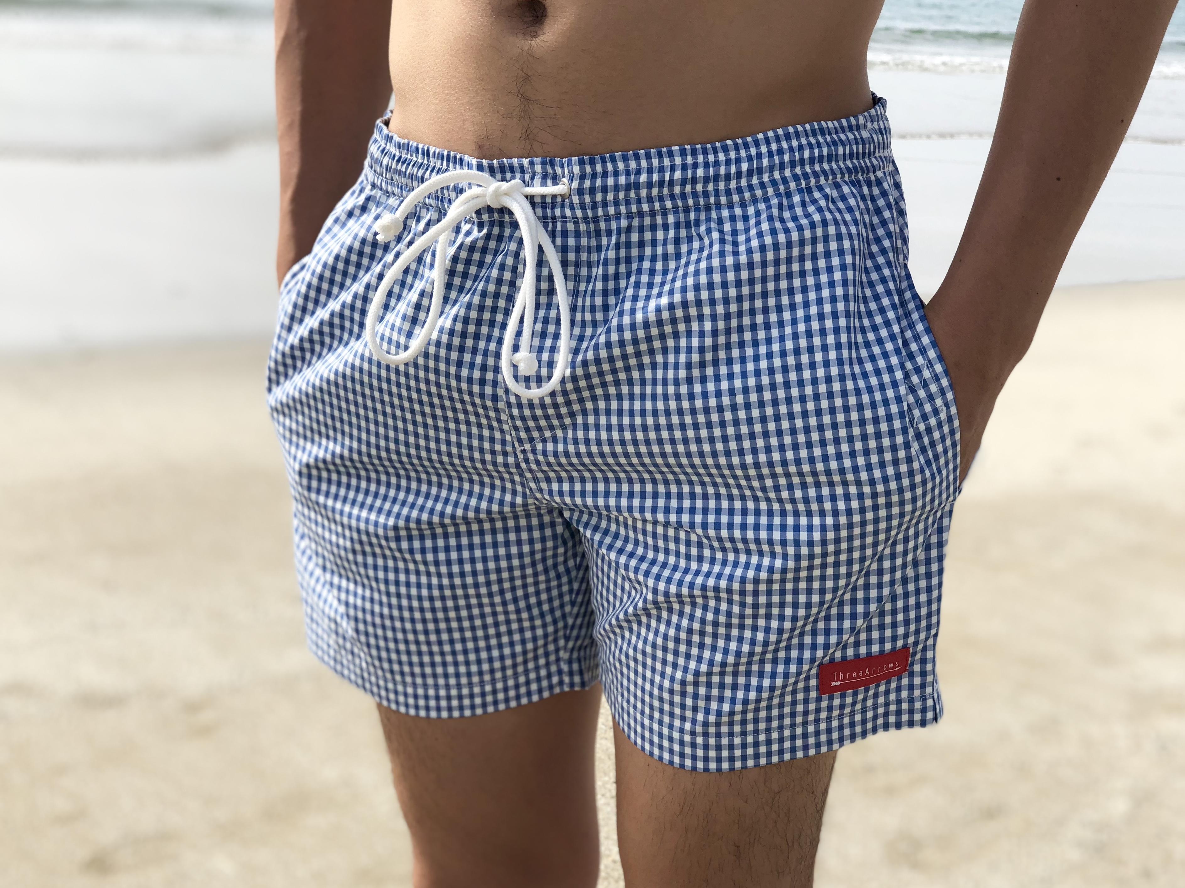 ThreeArrows Board Shorts(blue×white)