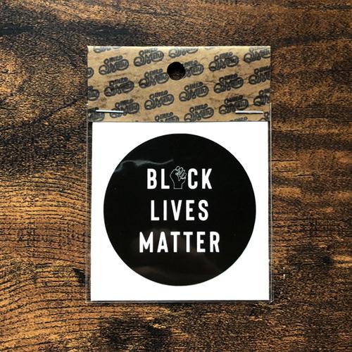 BLACK LIVES MATTERステッカー / ブラック | SINE METU