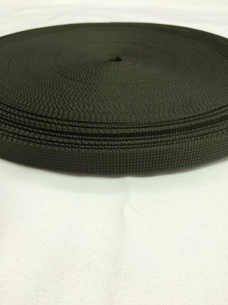 ナイロン 12本トジ織 25㎜幅 カラー(黒以外)50m巻