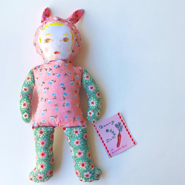 """Nathalie Lete """"Pink Bunny"""" ナタリーレテ ピンクバニー ウサギ 女の子 人形 ドール"""