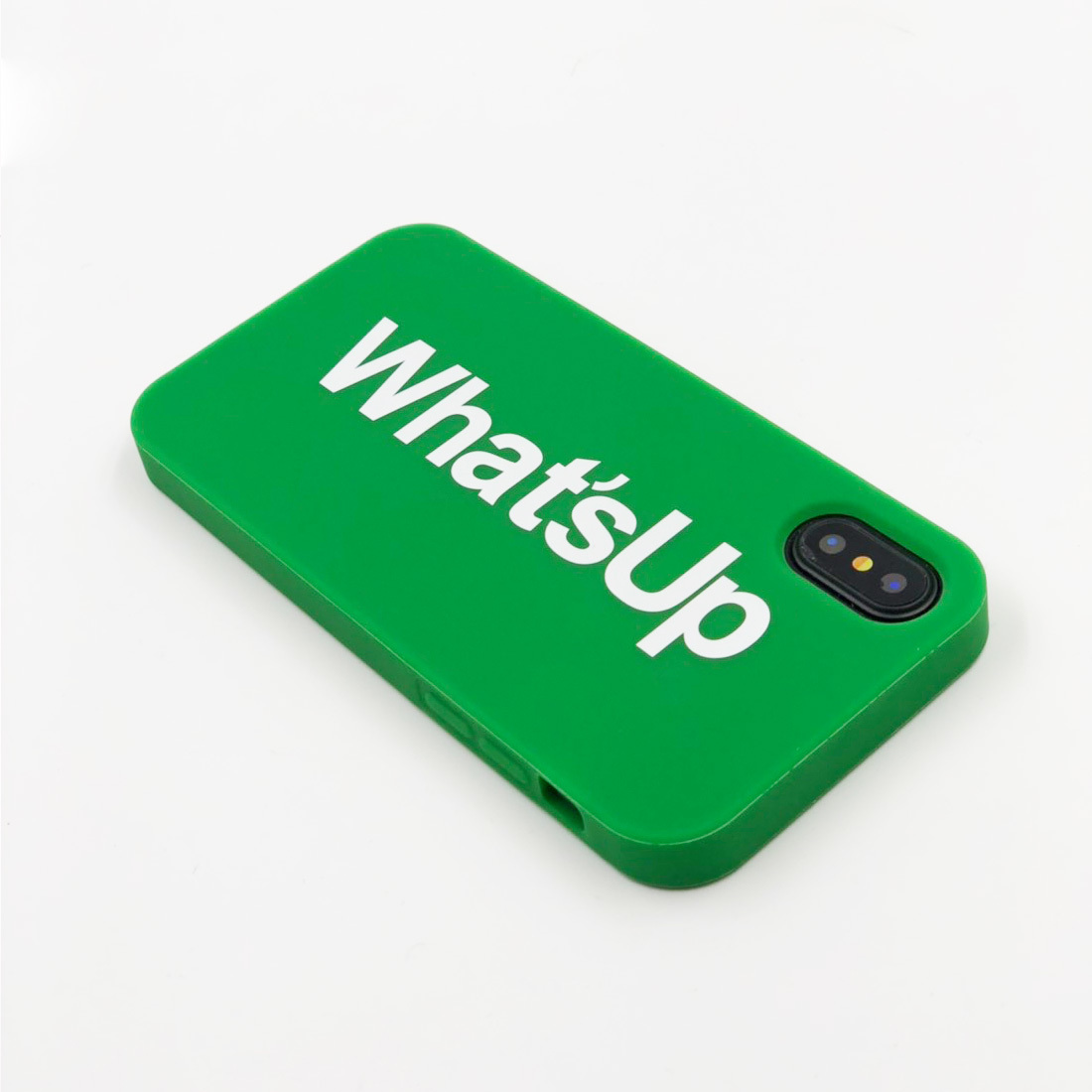 "SIMPLE CASE ""WHAT'S UP"" for iPhoneXS/iPhoneX"