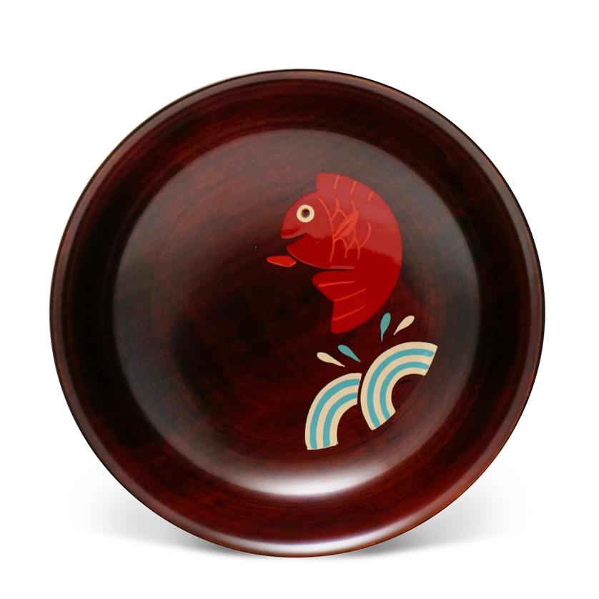 手塩皿4.0木地溜塗めで鯛!(11)
