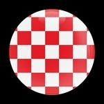 ゴーバッジ(★在庫処分★)(CD0444 - FLAG CHECKER-RED) - 画像1