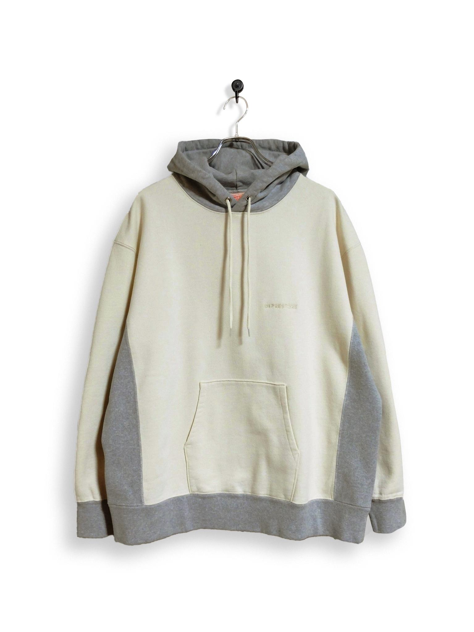 Original Hooded Sweatshirt / 2tone / white × gray